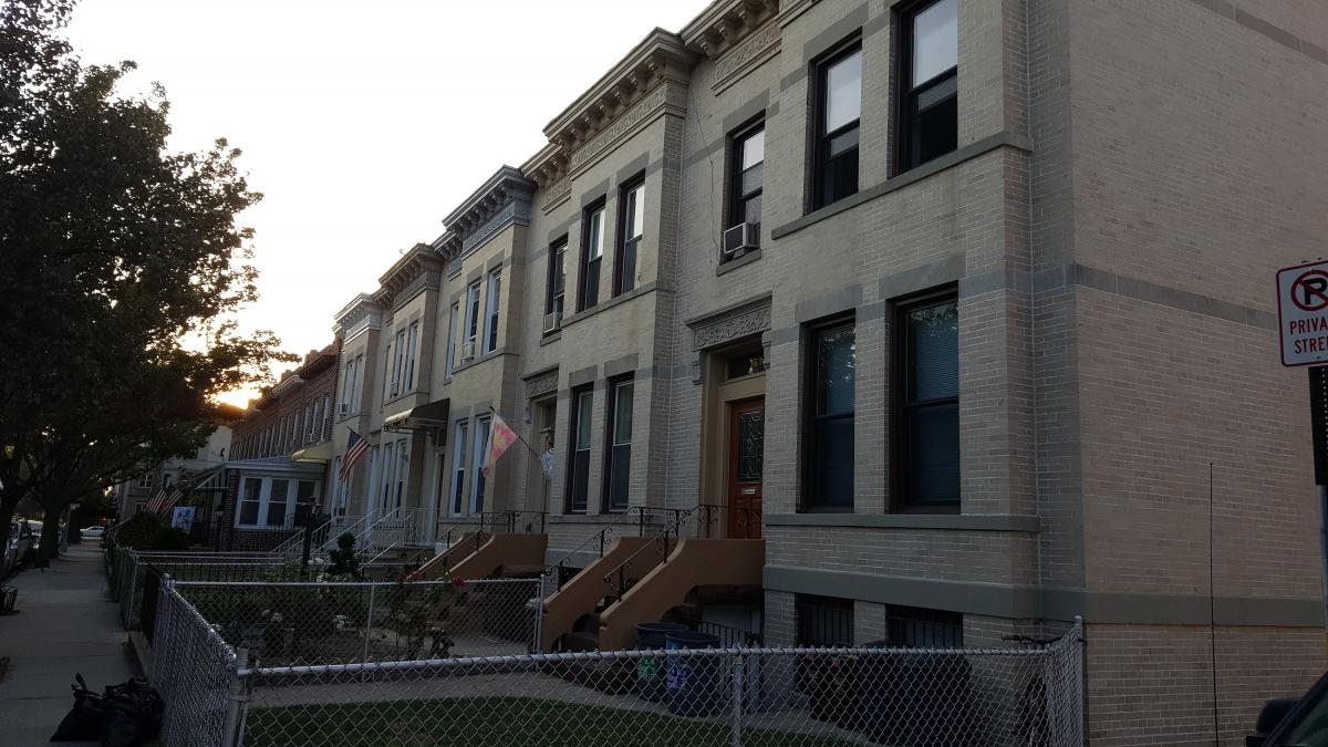 Wonderfully nice row houses - so many people in Brooklyn live in set-ups like this.