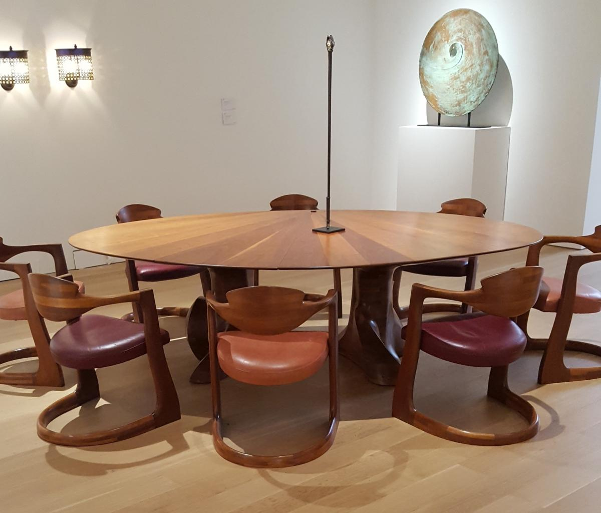 A very comfortable dining table by Wendell Castle