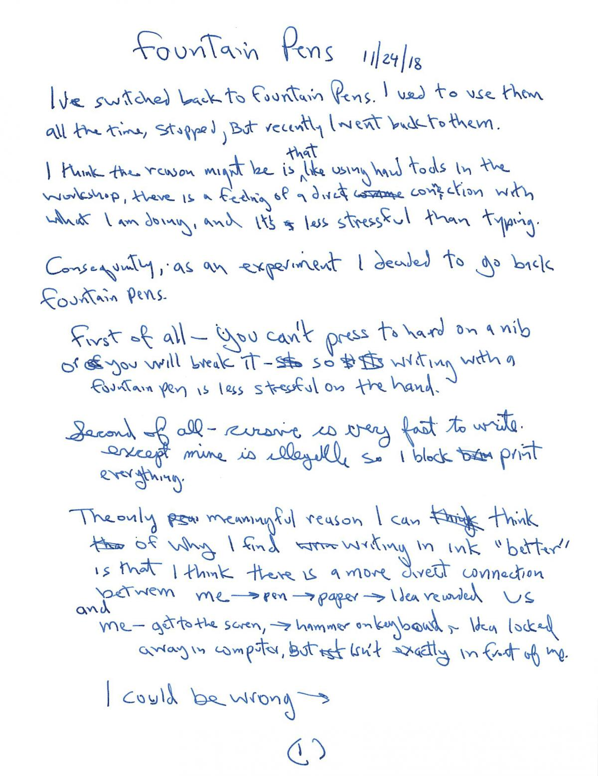 I Think Better on Paper - My Return to Fountain Pens 1