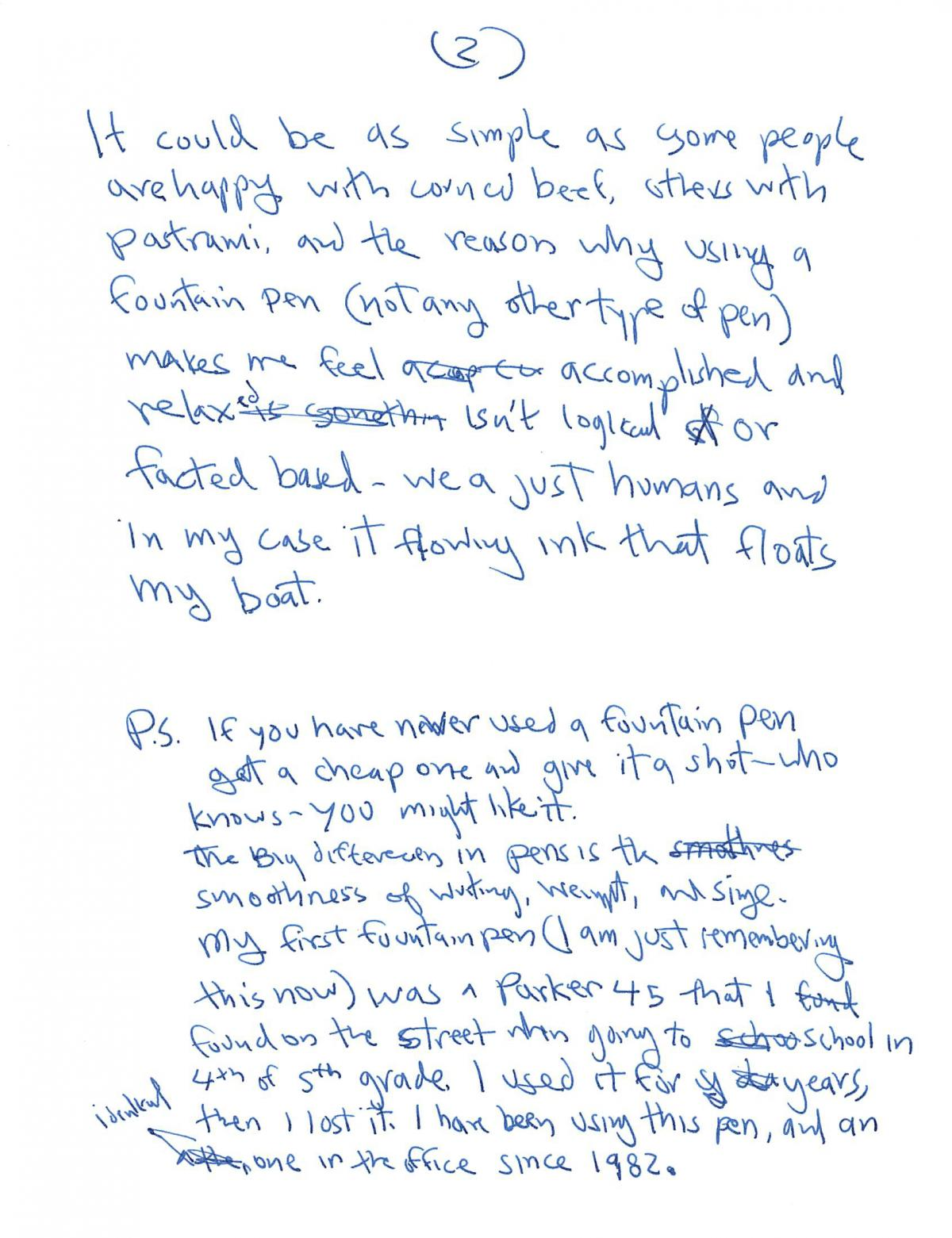 I Think Better on Paper - My Return to Fountain Pens 2