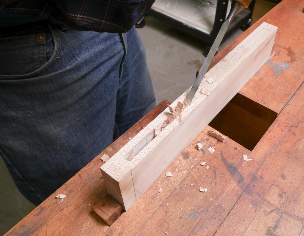 How to Cut a Groove in a Frame By Hand and Without a Plow Plane  6