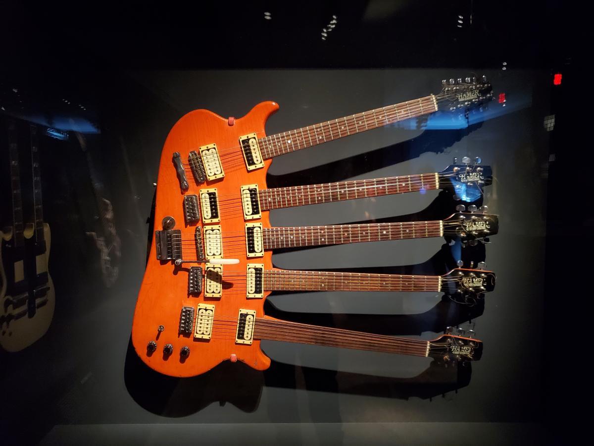 Guitar belonging to Rick Neilsen of Cheap Trick