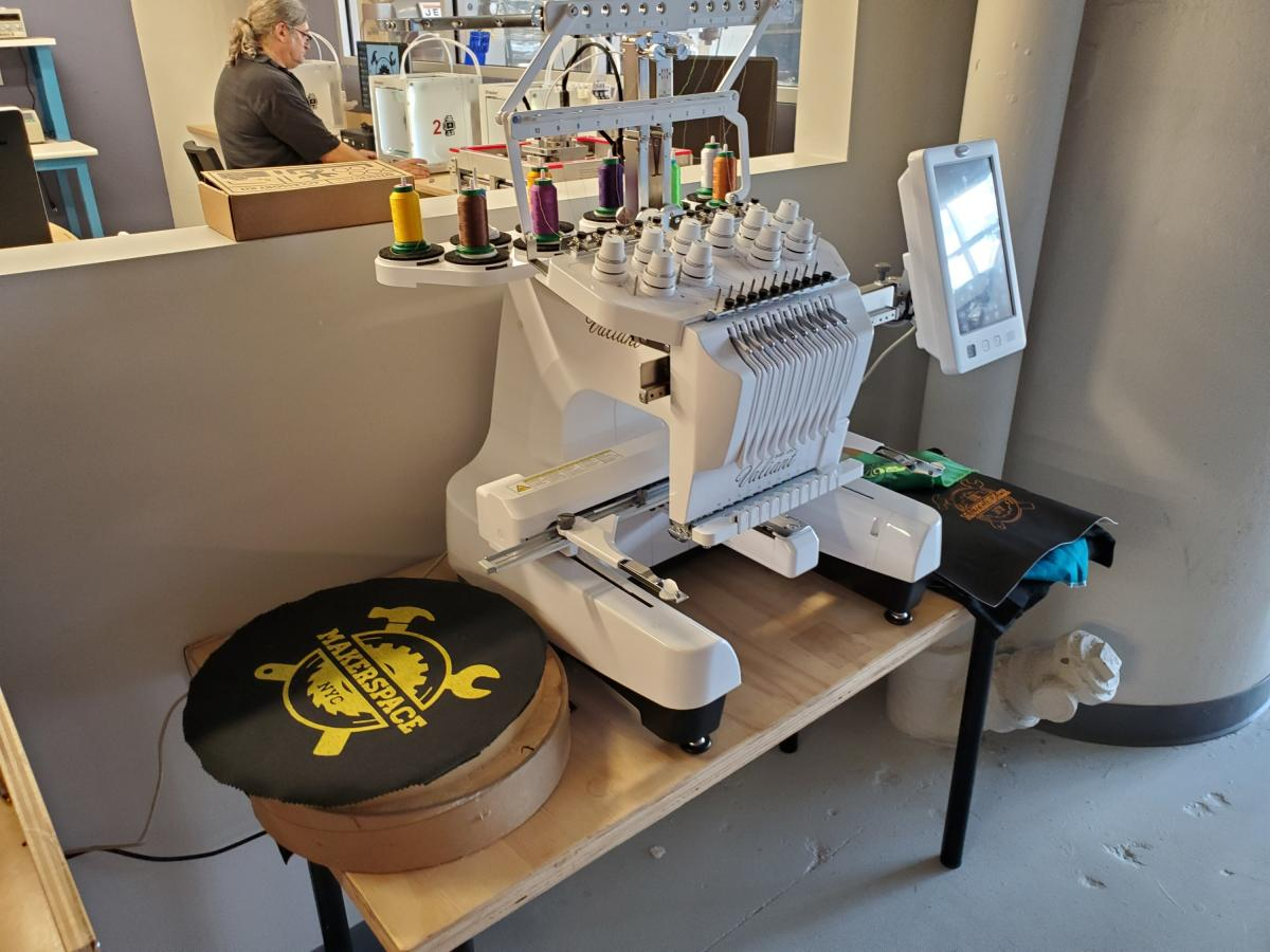 The CNC embroidery machine