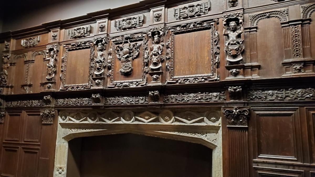 Fireplace and Paneling from a house in Norfolk. C. 1600