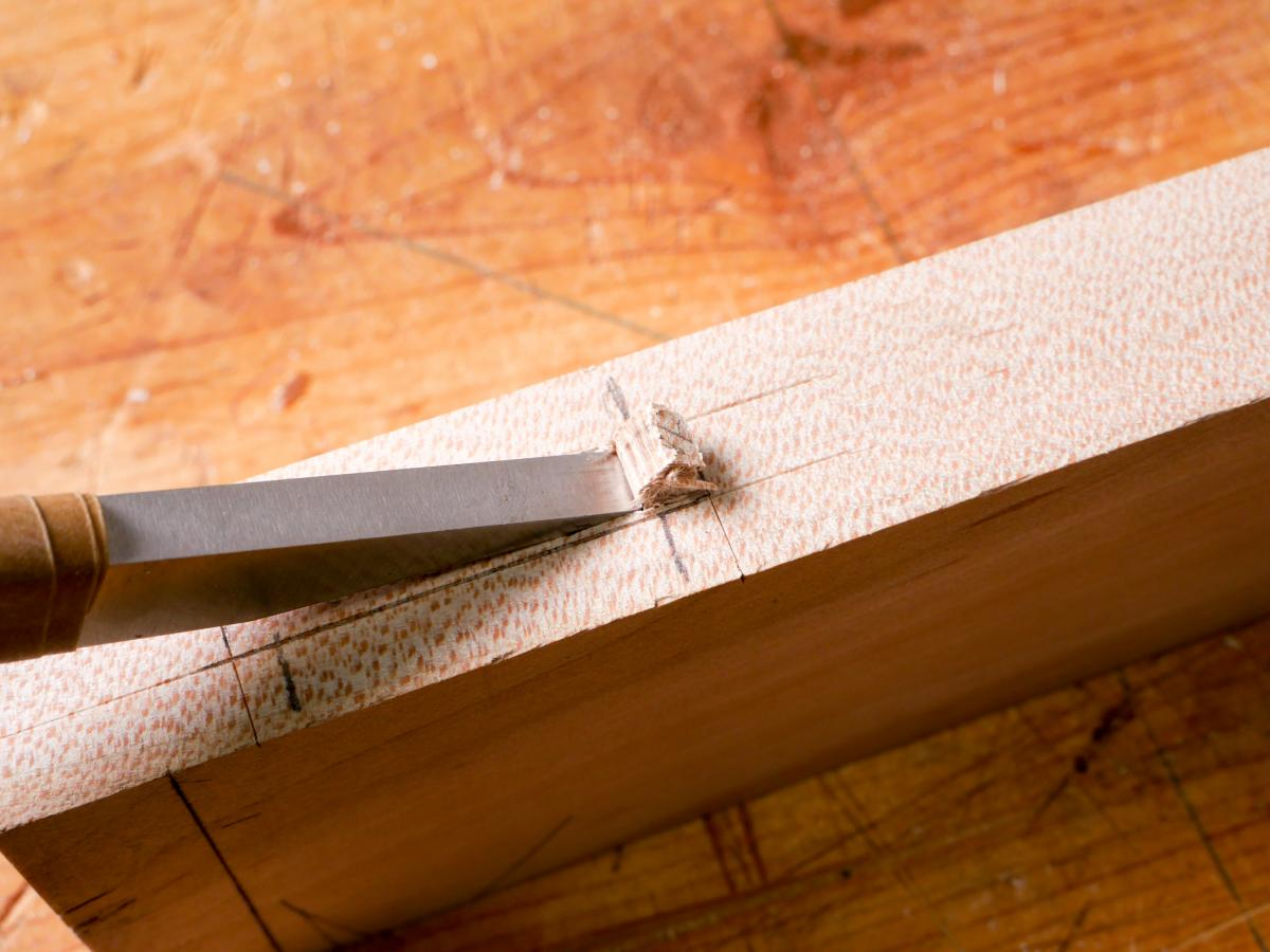 How to Mortise the Moxon Way: Part 2, Chopping the Mortise 11