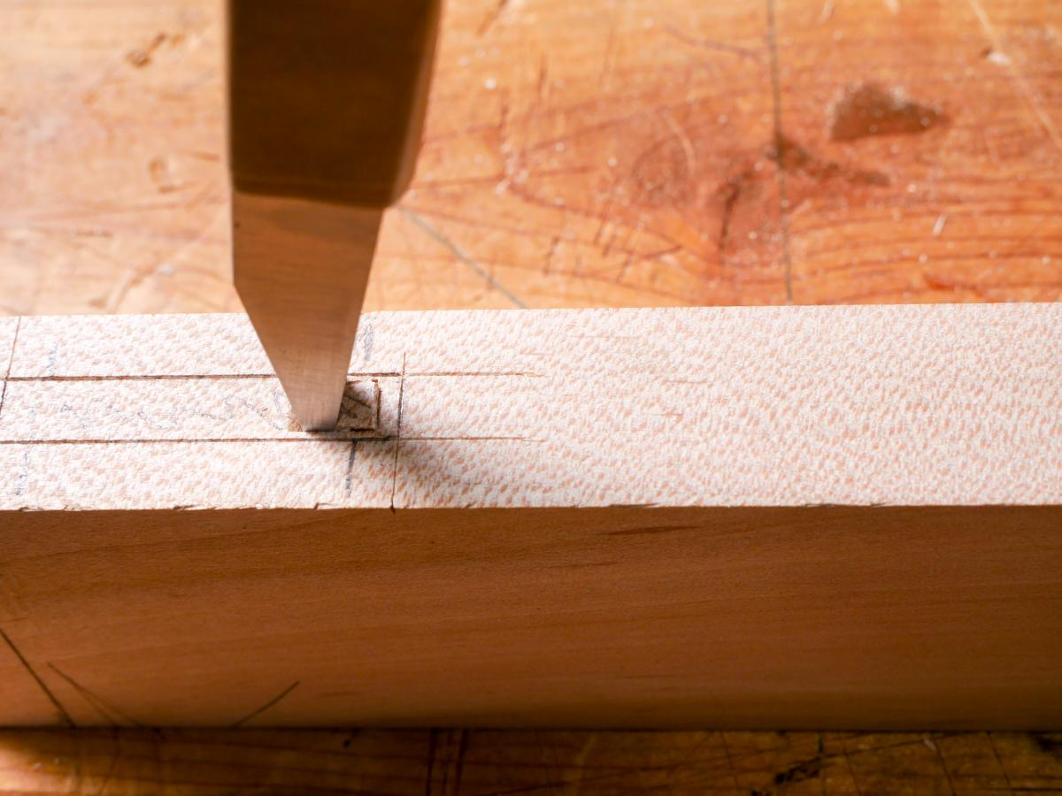 How to Mortise the Moxon Way: Part 2, Chopping the Mortise 9