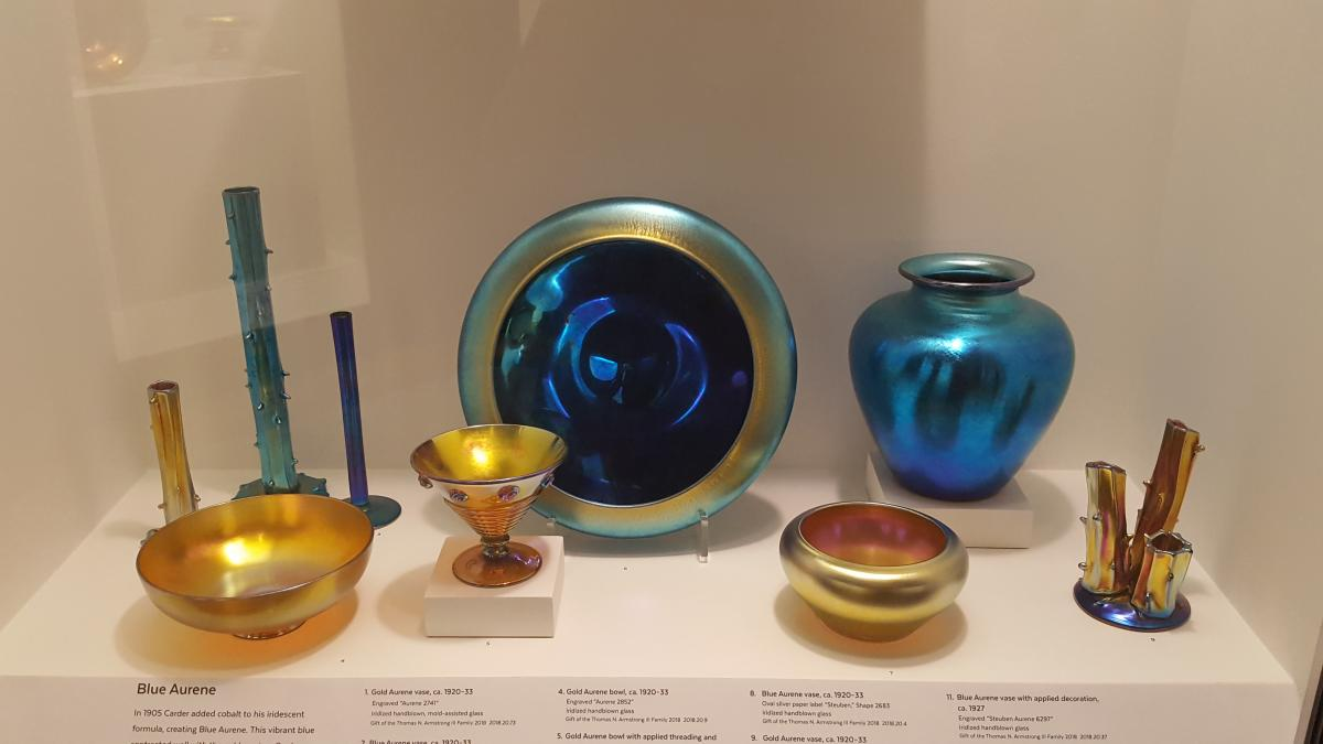 Part of the extensive collection of glassware