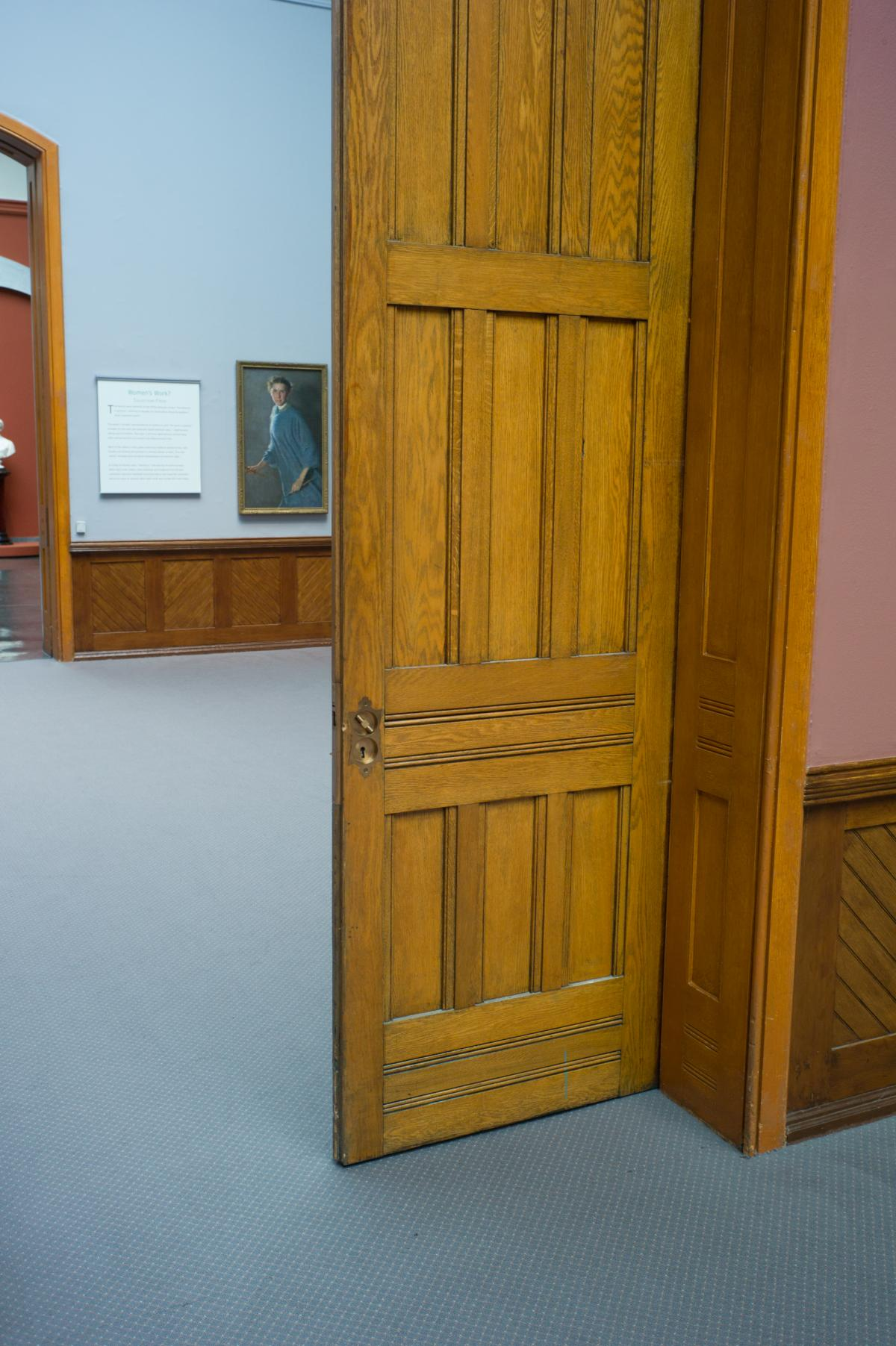 Tall heavy pocket doors, wonderfully made are a great example of Victorian craftmanship.