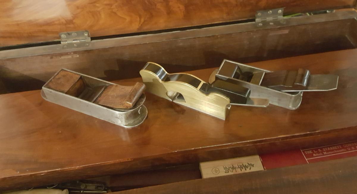 Left to right: Christopher Gabriel - late 18th century, Norris 20E shoulder plane in nearly unused condition, I Smith - Mid 19th Century