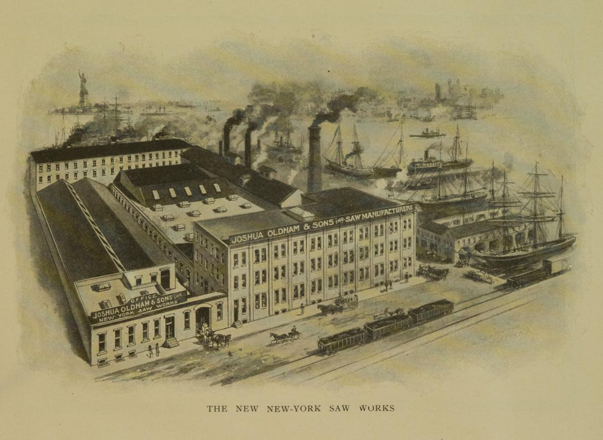 The Joshua Oldham Saw Works at 26th Street and 3rd Avenue Brooklyn