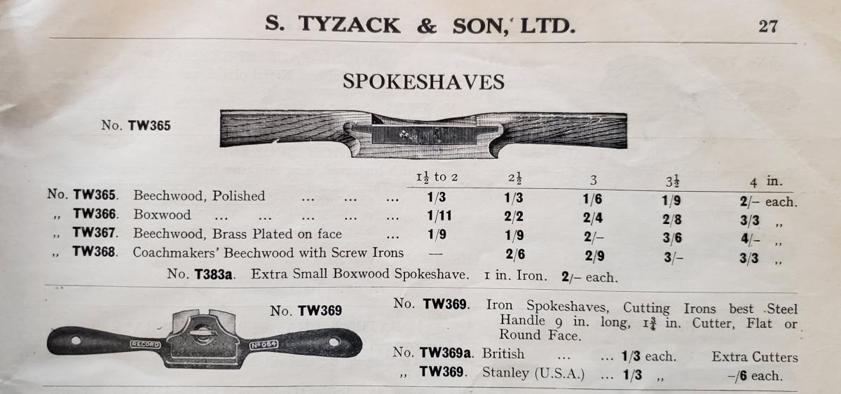 1930 Tyzak Catalog