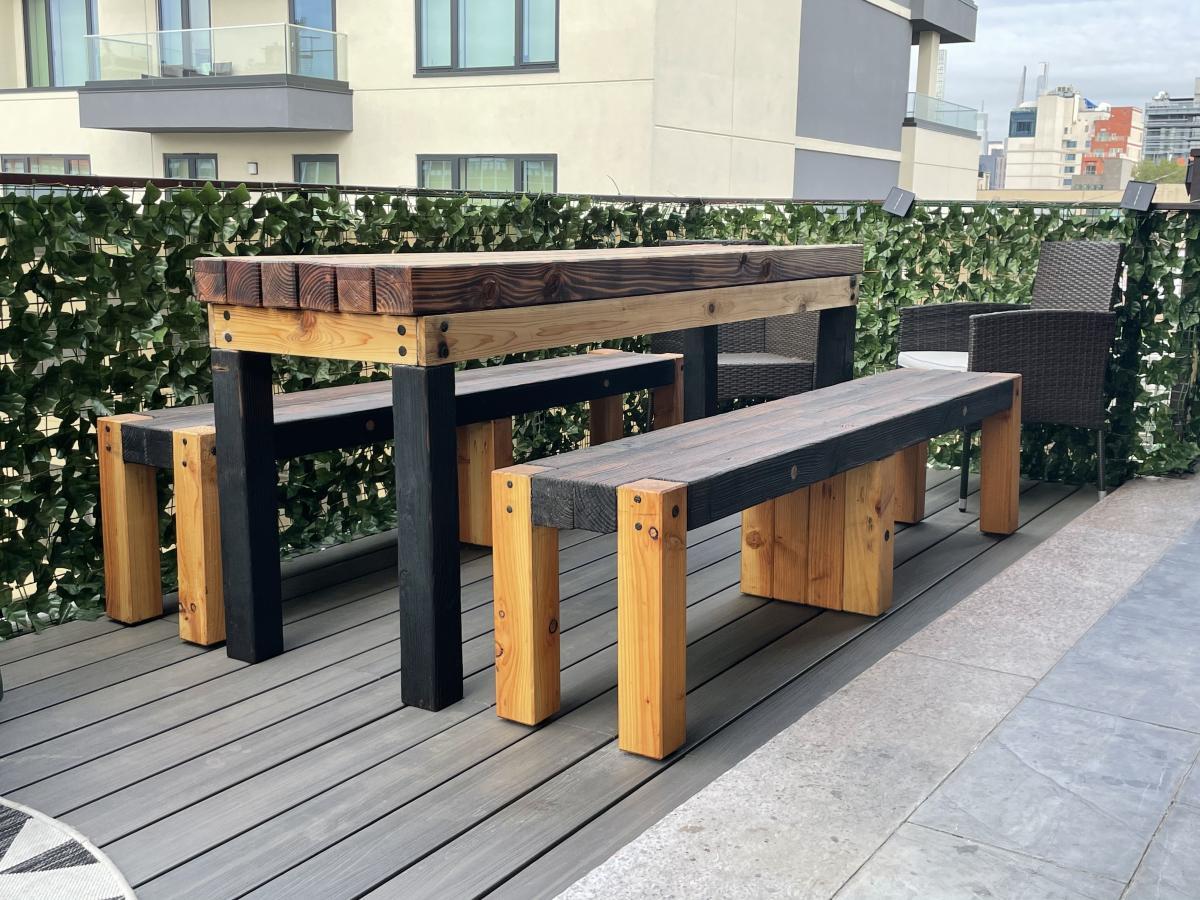Fired Again - Shousugiban Patio Furniture 1