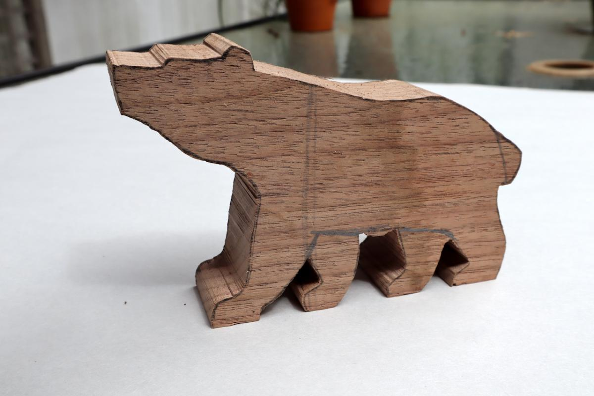 The bear as a walnut carving blank