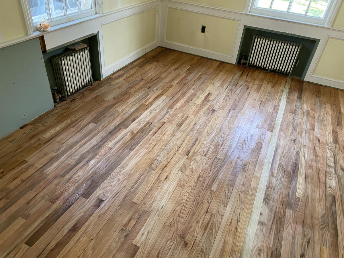 A dining room floor good enough to eat off of!