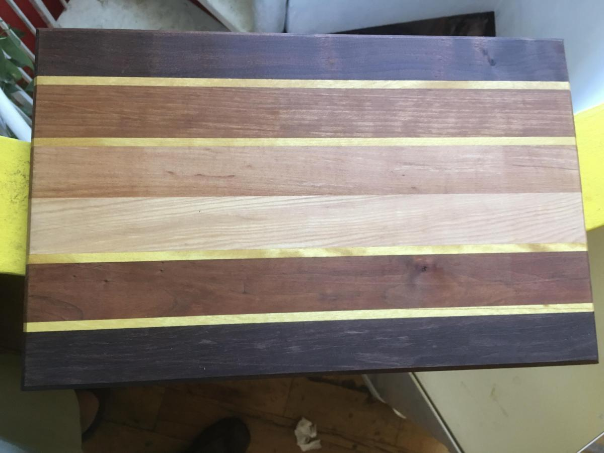 My first cutting board