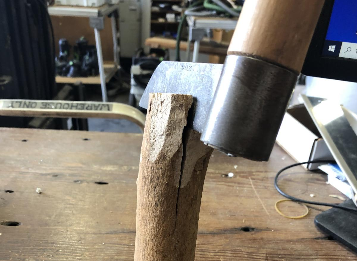 A froe is a great tool for splitting wood