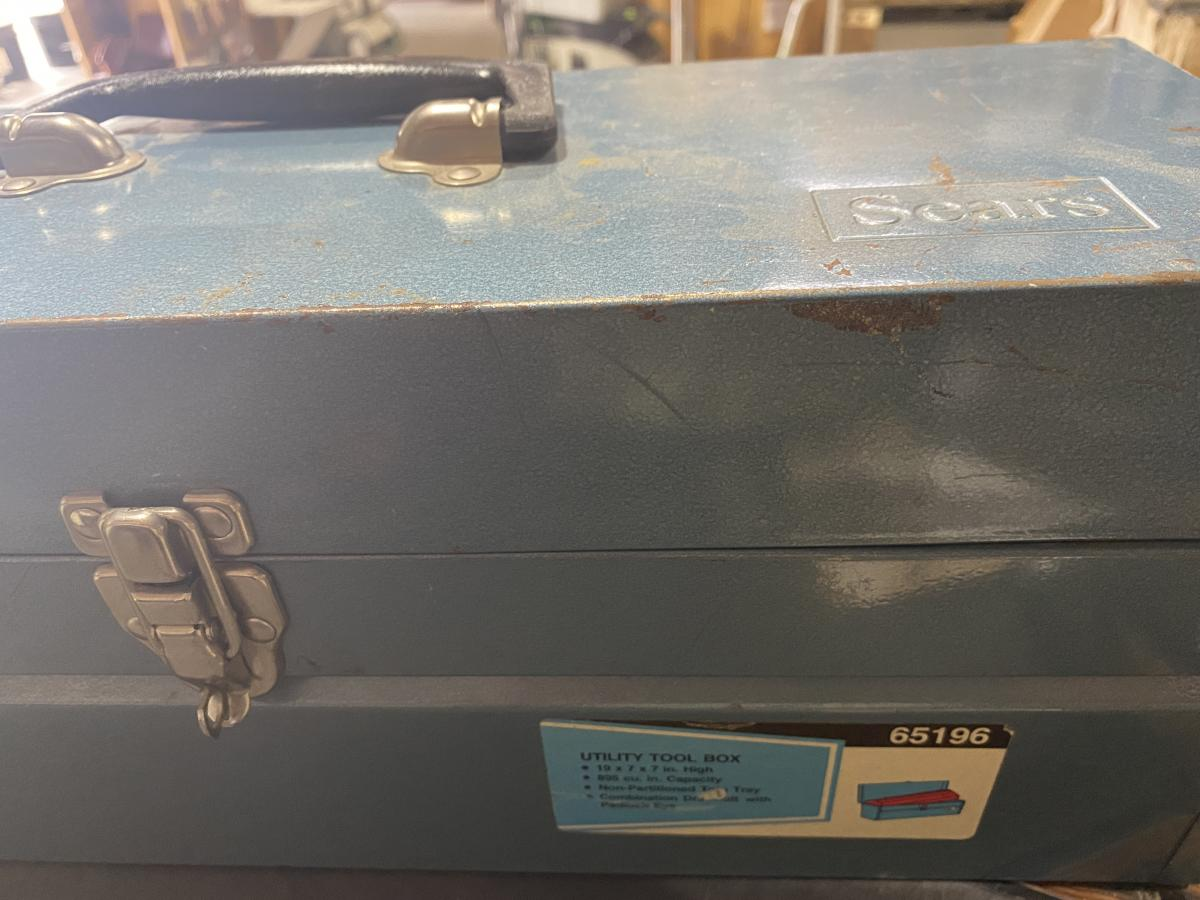 Find someone who has the same color blue in their eyes as this classic Sears toolbox. They are a keeper! Dreamy!
