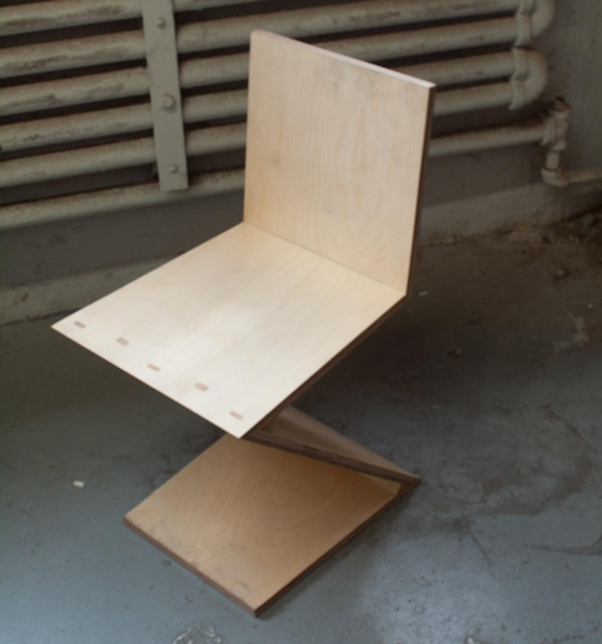 Modern Furniture Construction - Making a Zig-Zag Chair 1