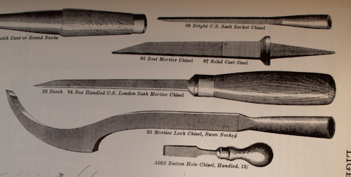 English Mortise Chisels -Part 2 -  Mid-18th Century to Now - What the Catalogs Tell Us 6