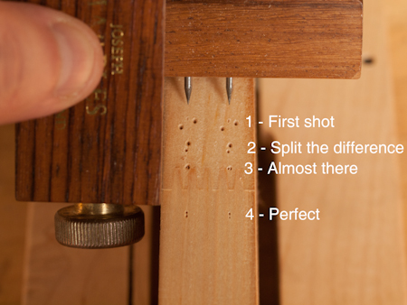 How to Quickly  Center  A Mortise Or Find The Center Of A Board Without Gadgetry 4