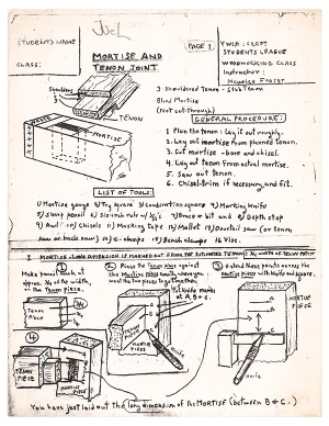 Maurice mortise and tenon notes