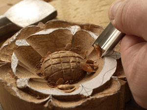 Carving a Tudor Rose 5