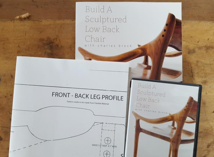 Build a Sculptured Low Back Chair with Charles Brock - Book,  DVD, & Full Sized Plan