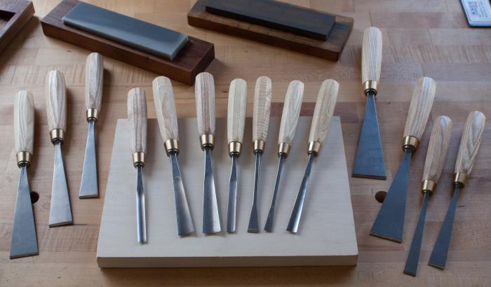 Chris Pye Letter Carving Tool Sets - Full 14 piece set (sharpening stones not included)