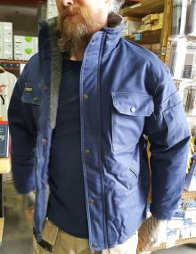 Blaklader Toughguy Pile Lined Jacket in Navy Blue