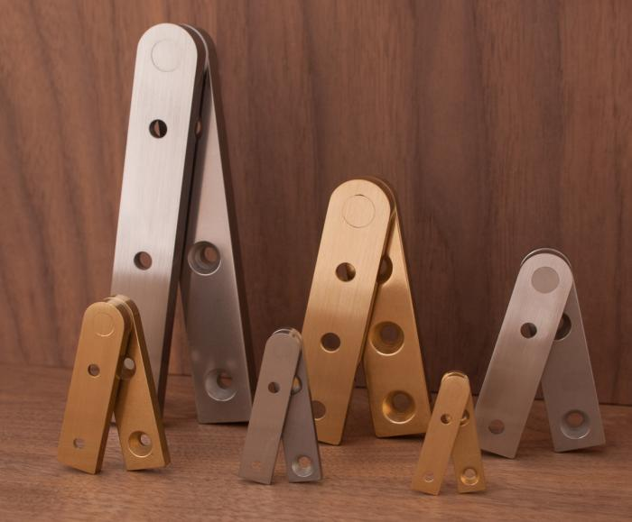 Brusso Straight Pivot Cabinet Hinges