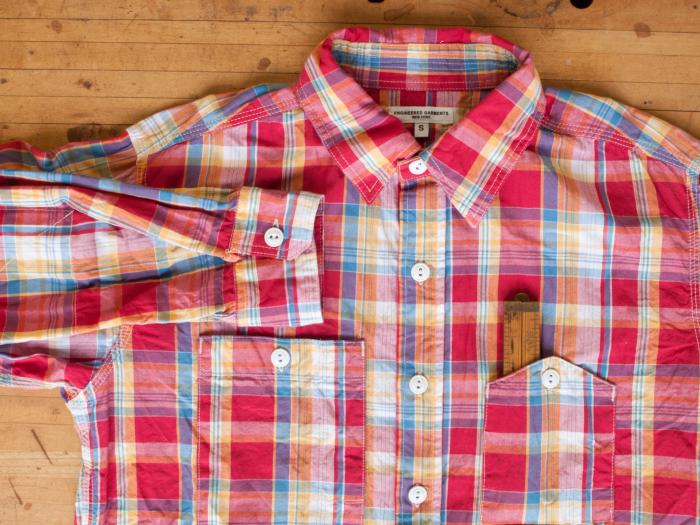 57252eadd03 Engineered Garments - Summer Work Shirt Cotton Newport Plaid - Stanley No.