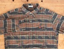 Engineered Garments  - 19th Century BD Shirt - Brown Printed Bird on Plaid
