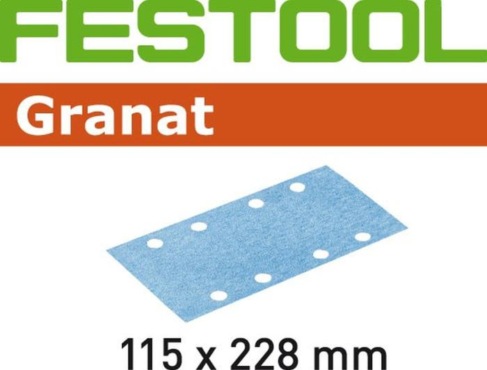 Festool Granat 115x228 Sanding Sheets for RS 2 Sander