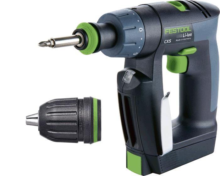 CXS Compact Drill w/Systainer, Keyless & Centrotec chucks, and 2 x 2.6Ah batteries + charger (#564534)