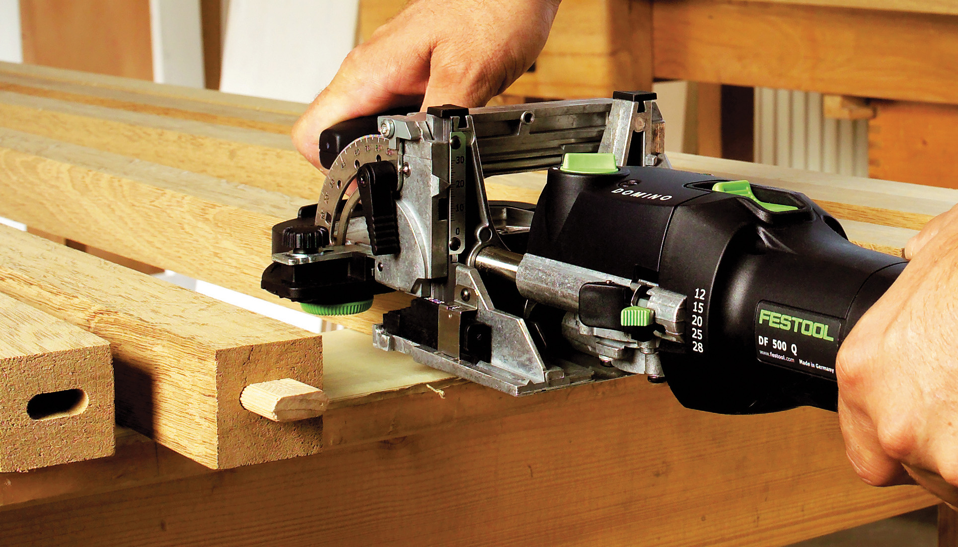 Festool Domino DF 500 Joiner, Accessories, and Dominos
