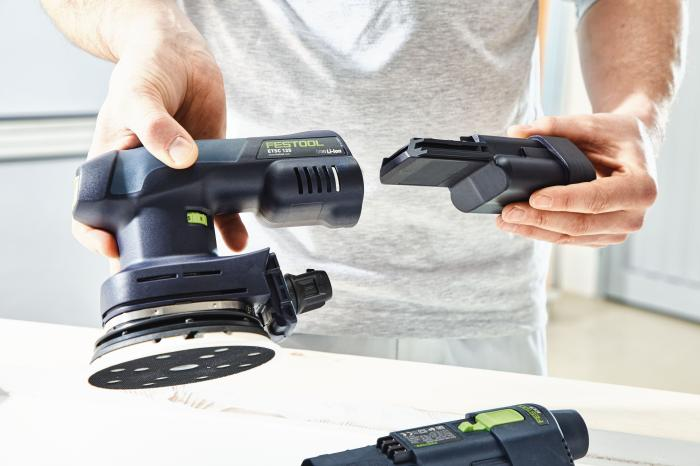 "FESTOOL 5"" ETSC  18V Brushless Hybrid Cordless 5""  Eccentric Sander Orbital Sander and Accessories"