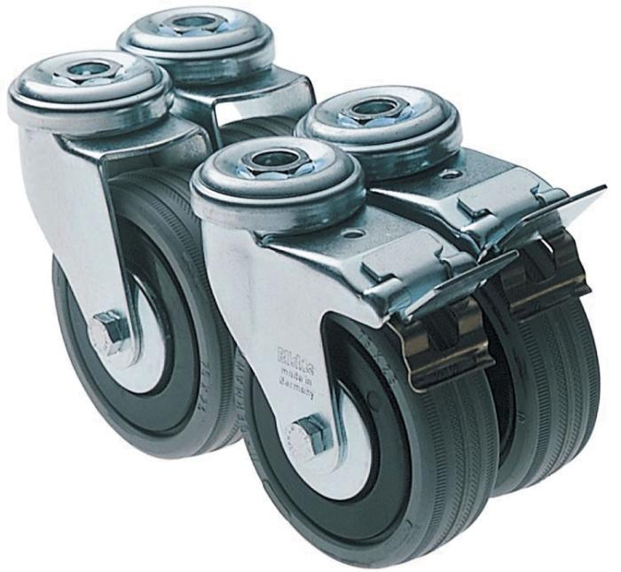 Casters 4x, SYS Port (#491932)