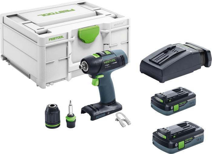 Cordless Drill T18+3 PLUS with 4ah Batteries (#576457)