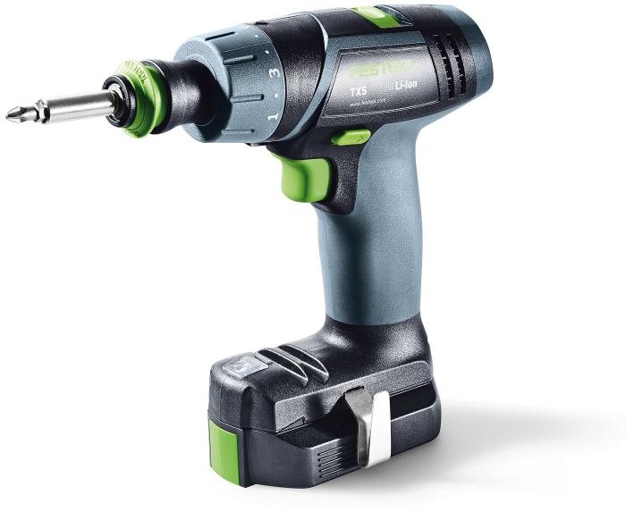 TXS Compact Drill w/Systainer, Keyless & Centrotec chucks, and 2 x 2.6Ah batteries + charger (#564513)
