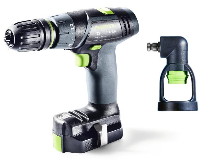 TXS Compact Drill w/Systainer,  Keyless, Centrotec, and RIGHT angle chucks  and 2 x 2.6Ah batteries + charger  (#564514)
