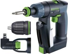 CXS Compact Drill w/Systainer,  Keyless, Centrotec, and RIGHT angle chucks  and 2 x 2.6Ah batteries + charger  (#564535)