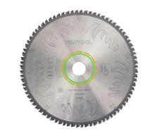 carbide tipped 80 tooth blade, ATB grind for fine cuts in wood and soft plastics (#495387)