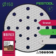 "Festool Granat - Mini Packs of 6"" 150mm Diameter Sanding Disks"