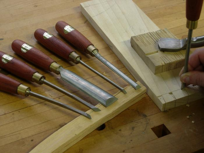 Round Back Dovetail Chisels by Ashley Iles