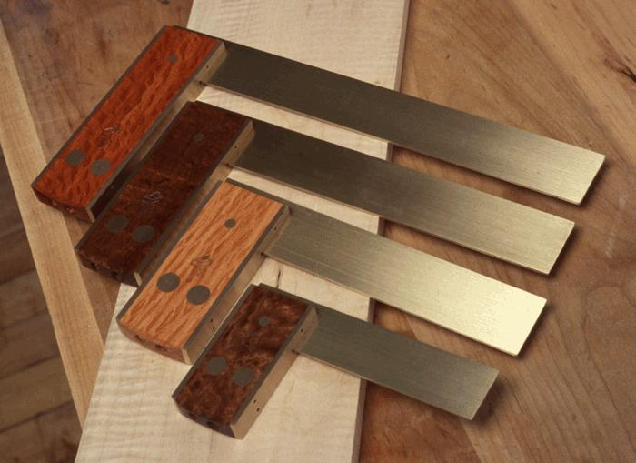 "Squares come in a range of sizes with a usable blade length of 2"" - 10"". (4"" and up shown)."