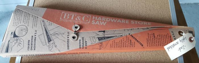 BT&C Hardware Saw. Shop tested for performance. Cosmetic scratches only.