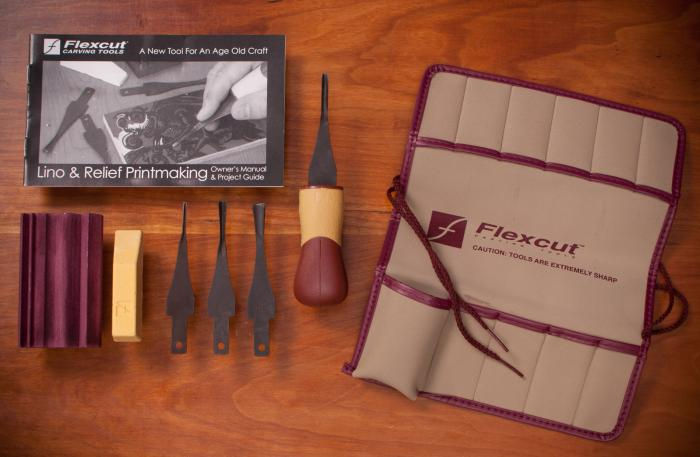 Flexcut Lino & Printmaking Set - Set Contents