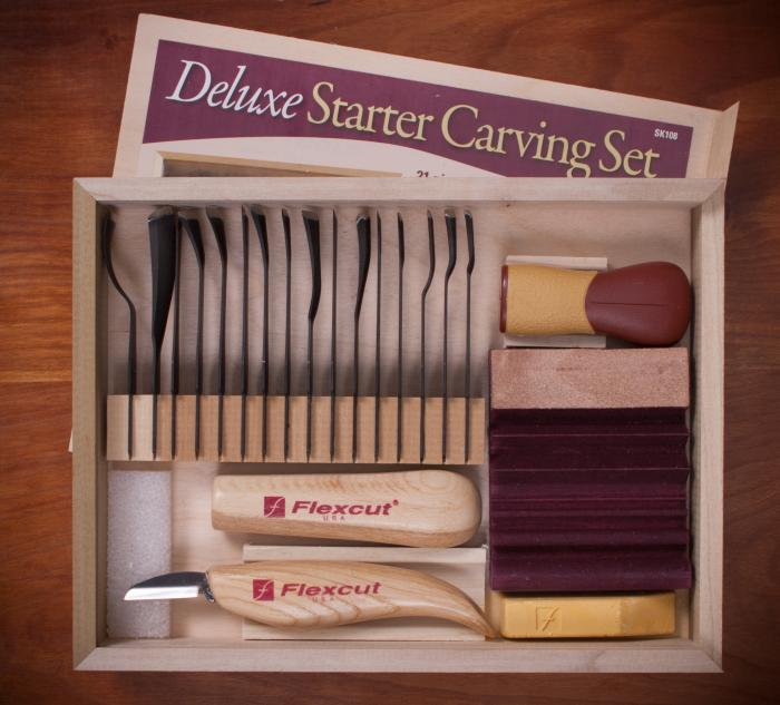 Flexcut Interchangeable Carving Sets - SK108 21 pc. Deluxe Starter Set