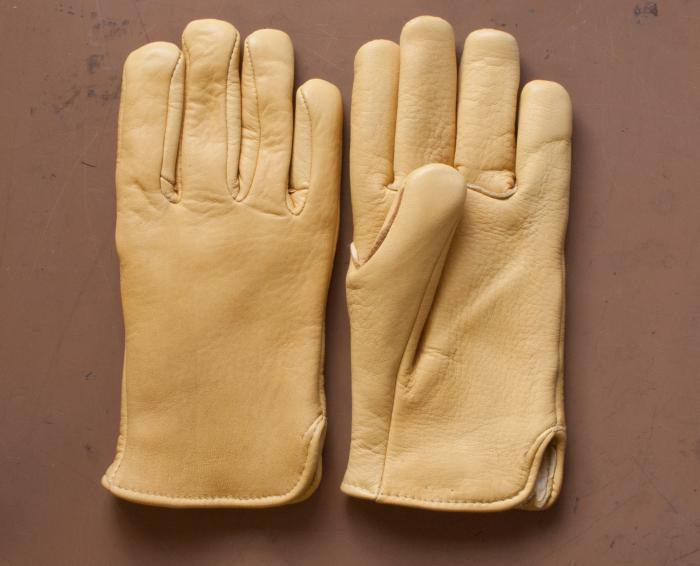 Pile  Lined  Elkskin Work Gloves - Tannery run elkskin looks great and is hard-wearing