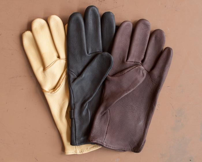 Deerskin Gloves with Slide-Buckle